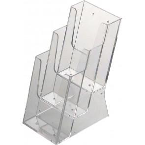 Acrylic Brochure bordholder 3xM65