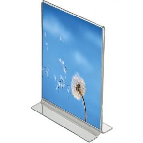 1225 T skilteholder bord akryl A5