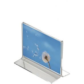 1226 T skilteholder bord akryl A5