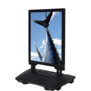 Stormskilt Wind-Sign Budget 70x100cm sort