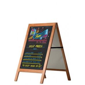 Cafetavle Wooden Sign 60x80cm træ