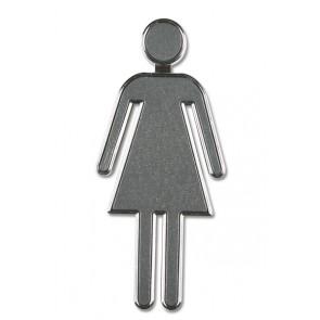 Dørskilt - Toiletskilt 3D Dame ikon