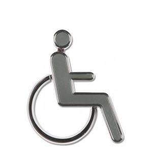 Dørskilt - Toiletskilt 3D Handicap ikon