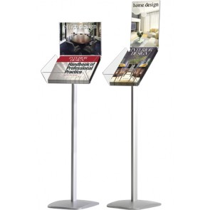 Expo Brochure Stand A4 med info-top bredformat