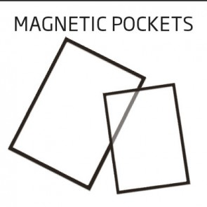 Plastlomme med magnet Infostand A5