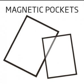 Plastlomme med magnet Infostand A4