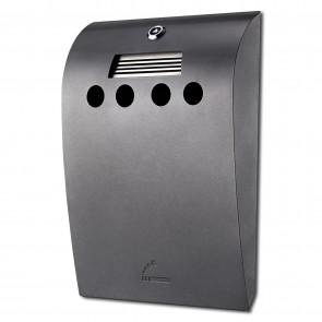1106 BIN Convex  udendørs askebæger grå stål