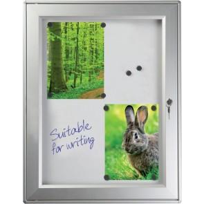 Nyhedsskab med magneter og lås 9xA4 udendørs