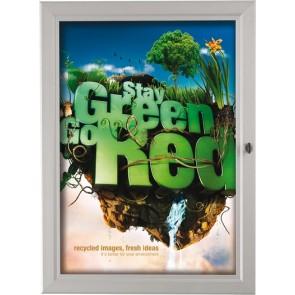 Posterboks, plakatskab A2 42x60 med lås udendørs